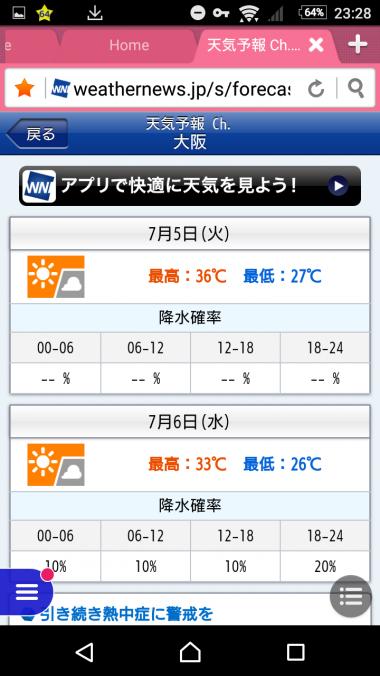大阪の天気